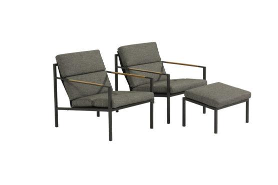 Taranto Outdoor Lounge Chair With Footstool - Garden Furniture For Sale Dublin Ireland