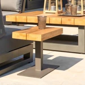 Marbella Teak Top Outdoor Side Table - Garden Furniture For Sale Dublin Ireland