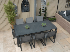 Toledo Outdoor Dining Table With 8 Belluno Chairs