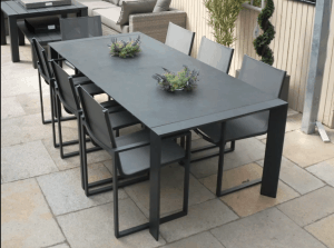 Toledo Outdoor Dining Table With 6 Belluno Chairs