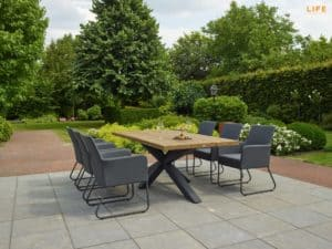 Los Marcos Outdoor Dining Table 230 x 100cm With 6 Outdoor Chairs