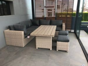 The Sousse Corner Sofa With High Dining Table