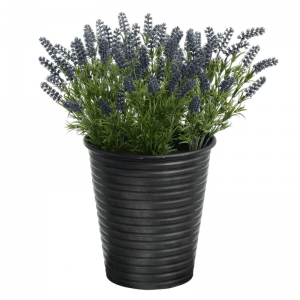 Lavender in Metal Pot (Black)