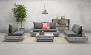 Cape Town Garden Sofa Set Cloudy Grey