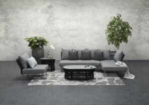 Tara Garden Corner Sofa Set Right