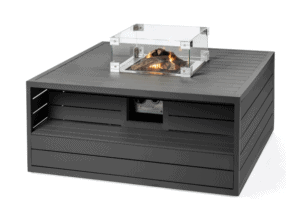 Aluminum Anthracite Gas Fire Pit Table