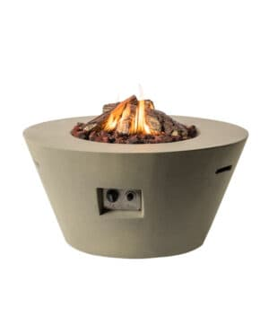 Cocoon Cone Gas Fire Taupe