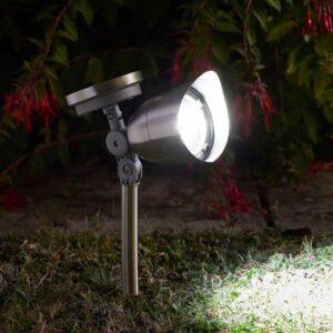 Mega 10L Solar Spotlight - Stainless Steel