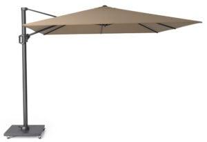 Alexander Cantilever Garden Parasol 3x3m Taupe + Modena Base